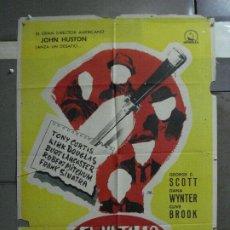 Cine: AAF18 EL ULTIMO DE LA LISTA JOHN HUSTON KIRK DOUGLAS GEORGE C. SCOTT JANO POSTER ORIG 70X100 ESTRENO. Lote 196094005