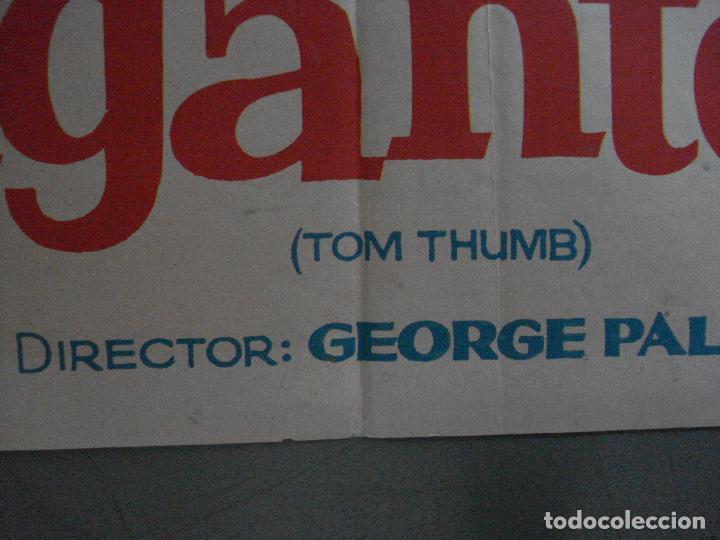 Cine: AAF25 EL PEQUEÑO GIGANTE tom thumb RUSS TAMBLYN GEORGE PAL JANO POSTER ORIGINAL 70X100 ESTRENO - Foto 11 - 196099117