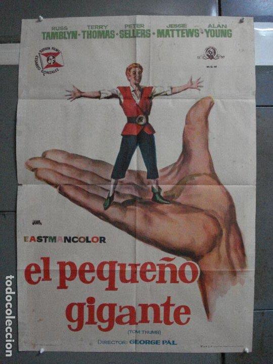 AAF25 EL PEQUEÑO GIGANTE TOM THUMB RUSS TAMBLYN GEORGE PAL JANO POSTER ORIGINAL 70X100 ESTRENO (Cine - Posters y Carteles - Musicales)