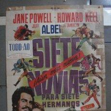 Cine: AAF28 SIETE NOVIAS PARA SIETE HERMANOS STANLEY DONEN POSTER ORIGINAL 70X100 ESPAÑOL R-63. Lote 196102251