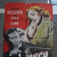 Cine: AAF29 CERCO DE ODIO WILLIAM HOLDEN RUDOLPH MATE POSTER ORIGINAL 70X100 ESTRENO. Lote 196104882
