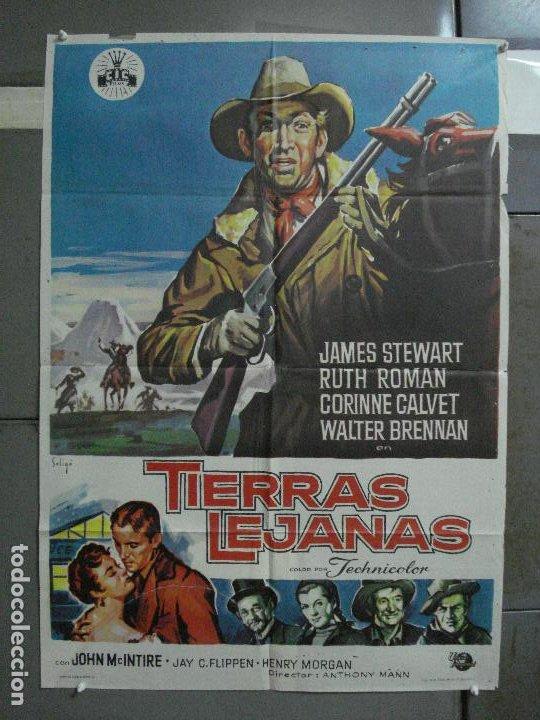 AAF35 TIERRAS LEJANAS JAMES STEWART ANTHONY MANN SOLIGO POSTER ORIGINAL 70X100 ESPAÑOL R-66 (Cine - Posters y Carteles - Westerns)