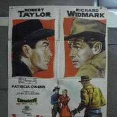 Cinéma: AAF36 DESAFIO EN LA CIUDAD MUERTA ROBERT TAYLOR RICHARD WIDMARK JANO POSTER ORIGINAL 70X100 ESTRENO. Lote 196107655