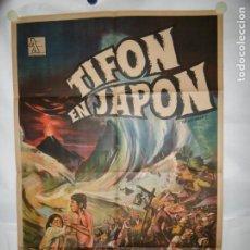 Cine: TIFON EN JAPON - 110 X 75CM - LITOGRAFICO. Lote 196143143