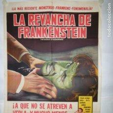 Cine: LA REVANCHA DE FRANKENSTEIN - 110 X 75CM - LITOGRAFICO. Lote 196143378
