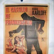 Cine: EL CASTILLO DE FRANKENSTEIN - 110 X 75CM - LITOGRAFICO. Lote 196143410