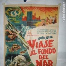Cine: VIAJE AL FONDO DEL MAR - 110 X 75CM - LITOGRAFICO. Lote 196143577