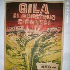 Cine: GILA EL MONSTRUO GIGANTE - 110 X 75CM - LITOGRAFICO. Lote 196143713