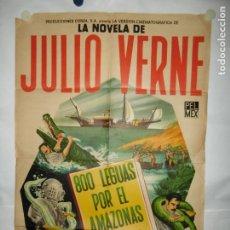 Cine: 800 LEGUAS POR EL AMAZONAS - 110 X 75CM - LITOGRAFICO. Lote 196143877