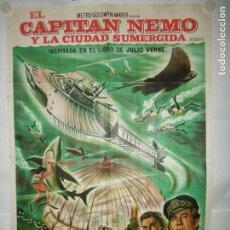Cine: EL CAPITAN NEMO - 110 X 75CM - LITOGRAFICO. Lote 196144021