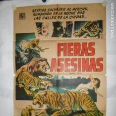 Cine: FIERAS ASESINAS - 110 X 75CM - LITOGRAFICO. Lote 196144057