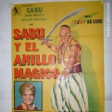 Cine: SABU Y EL ANILLO MAGICO - 110 X 75CM - LITOGRAFICO. Lote 196144887