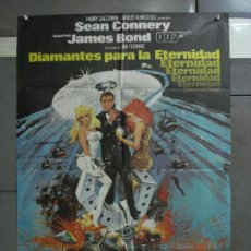 Cine: CDO 542 DIAMANTES PARA LA ETERNIDAD JAMES BOND 007 SEAN CONNERY POSTER ORIGINAL 70X100 ESTRENO. Lote 196164858