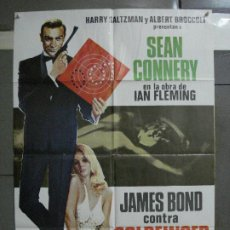 Cine: CDO 544 JAMES BOND CONTRA GOLDFINGER 007 SEAN CONNERY POSTER ORIGINAL 70X100 ESPAÑOL R-78. Lote 196167808