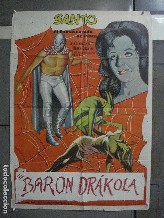 CDO 549 SANTO ATACAN LAS BRUJAS ENMASCARADO DE PLATA WRESTING MARCO POSTER ORIGINAL 70X100 ESTRENO (Cine - Posters y Carteles - Terror)
