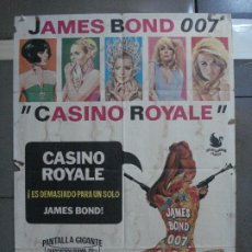 Cine: CDO 553 CASINO ROYALE JAMES BOND 007 WOODY ALLEN PETER SELLERS JANO POSTER ORIGINAL 70X100 ESTRENO. Lote 196174360
