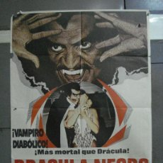 Cine: CDO 558 DRACULA NEGRO VAMPIROS BLAXPLOITATION ORIGINAL 70X100 ESTRENO. Lote 196175165