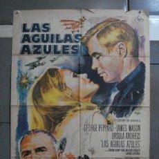 Cine: CDO 564 LAS AGUILAS AZULES GEORGE PEPPARD URSULA ANDRESS MASON MAC POSTER ORIGINAL 70X100 ESTRENO. Lote 196195475