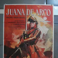 Cine: CDO 573 JUANA DE ARCO INGRID BERGMAN POSTER ORIGINAL 70X100 ESPAÑOL. Lote 196203663