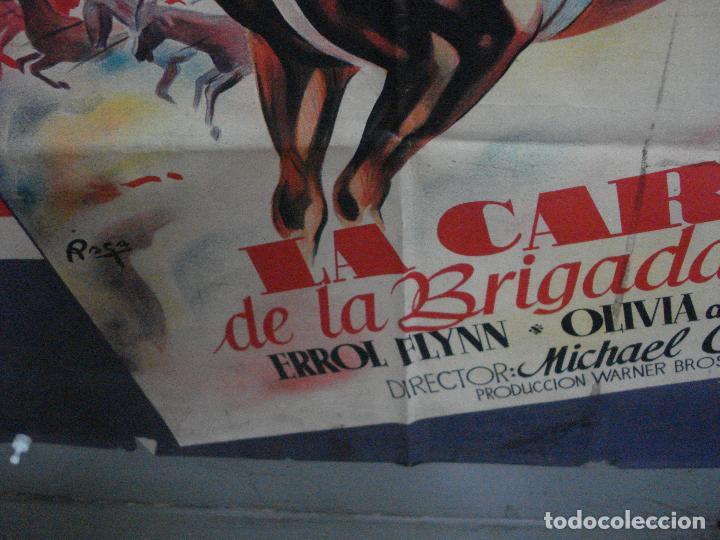 Cine: CDO 580 LA CARGA DE LA BRIGADA LIGERA ERROL FLYNN RAGA POSTER ORIG 70X100 ESPAÑOL R-62 LITOGRAFIA - Foto 6 - 196207572