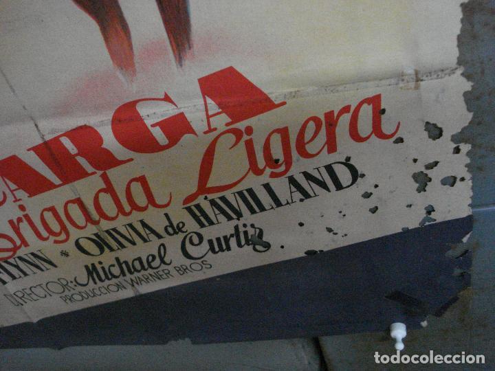 Cine: CDO 580 LA CARGA DE LA BRIGADA LIGERA ERROL FLYNN RAGA POSTER ORIG 70X100 ESPAÑOL R-62 LITOGRAFIA - Foto 7 - 196207572