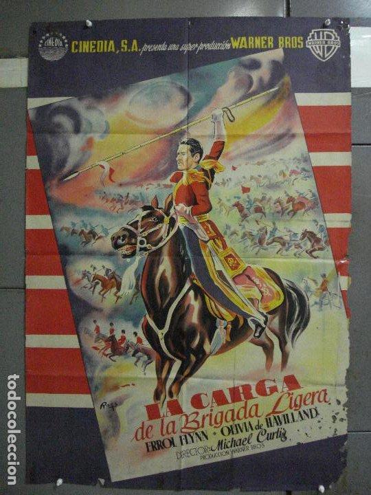 CDO 580 LA CARGA DE LA BRIGADA LIGERA ERROL FLYNN RAGA POSTER ORIG 70X100 ESPAÑOL R-62 LITOGRAFIA (Cine - Posters y Carteles - Aventura)