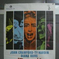 Cine: CDO 581 EL CIRCO DEL CRIMEN BERSERK JOAN CRAWFORD DIANA DORS POSTER ORIGINAL ESTRENO 70X100. Lote 235593150