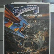 Cinéma: CDO 588 SUPERMAN 2 CHRISTOPHER REEVE POSTER ORIGINAL 70X100 ESTRENO. Lote 196229043