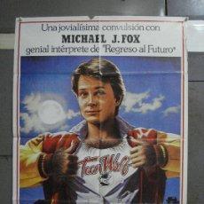 Cine: CDO 589 TEEN WOLF DE PELO EN PECHO MICHAEL J. FOX BALONCESTO POSTER ORIGINAL 70X100 ESTRENO. Lote 196229265