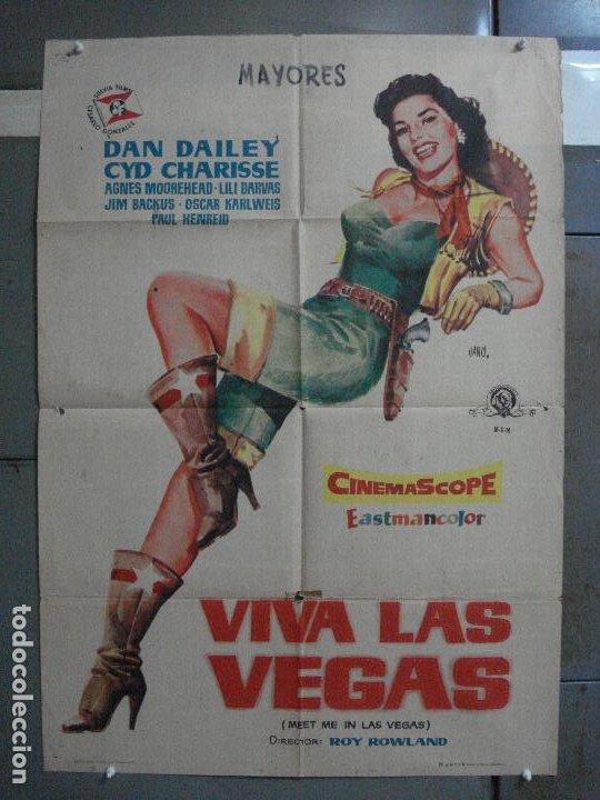 CDO 595 VIVA LAS VEGAS CYD CHARISSE MEET ME IN LAS VEGAS JANO POSTER ORIGINAL ESTRENO 70X100 (Cine - Posters y Carteles - Musicales)