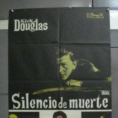 Cinéma: CDO 597 SILENCIO DE MUERTE KIRK DOUGLAS POSTER ORIGINAL 70X100 ESTRENO. Lote 196232346