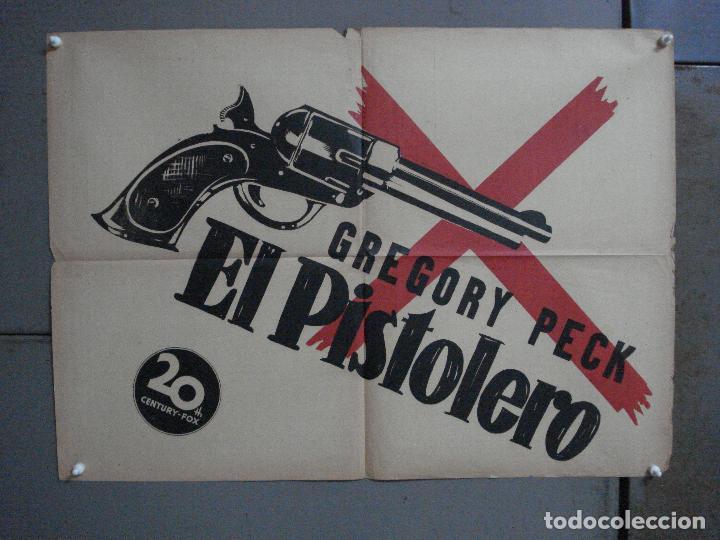 AAF91 EL PISTOLERO GREGORY PECK POSTER ORIGINAL 50X70 ESTRENO LITOGRAFIA (Cine - Posters y Carteles - Westerns)