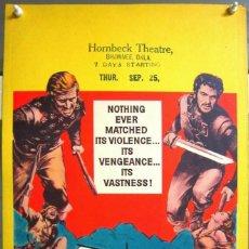 Cine: ZG72D LOS VIKINGOS KIRK DOUGLAS TONY CURTIS JANET LEIGH POSTER ORIGINAL WINDOW CARD AMERICANO 36X56. Lote 196622038