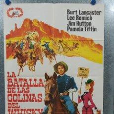 Cine: LA BATALLA DE LAS COLINAS DEL WHISKY. BURT LANCASTER, LEE REMICK AÑO 1980. POSTER ORIGINAL. Lote 196634828