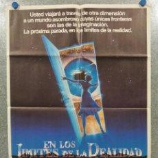 Cine: EN LOS LÍMITES DE LA REALIDAD. DAN AYKROYD, ALBERT BROOKS. AÑO 1983. POSTER ORIGINAL. Lote 196635665