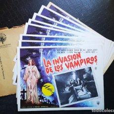 Cine: LA INVASIÓN DE LOS VAMPIROS - LOBBY CARDS. Lote 196748058