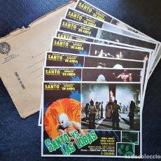 Cine: SANTO VS. LAS LOBAS - SANTO, RODOLFO DE ANDA, GLORIA MAYO - LOBBY CARDS. Lote 196750737