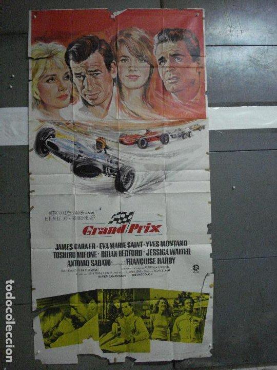 AAG37 GRAND PRIX FORMULA 1 AUTOMOVILISMO POSTER ORIGINAL 3 HOJAS 100X205 ESTRENO (Cine - Posters y Carteles - Deportes)