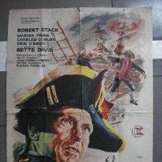 Cinéma: AAG39 EL CAPITAN JONES ROBERT STACK BETTE DAVIS JANO POSTER ORIGINAL 2 HOJAS 100X140 ESTRENO. Lote 196773935