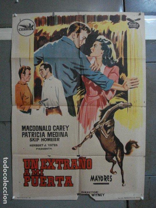 AAG41 UN EXTRAÑO A MI PUERTA MACDONALD CAREY PATRICIA MEDINA POSTER ORIGINAL 70X100 ESTRENO (Cine - Posters y Carteles - Westerns)