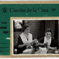 Cine: CURRITO DE LA CRUZ.(1936). DIRECCIÓN FERNANDO DELGADO. DISTRIBUIDA. EXCLUSIVAS HERRERA ORIA. 33X28,5. Lote 196876725