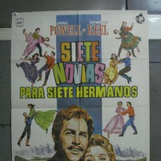 Cine: CDO 652 SIETE NOVIAS PARA SIETE HERMANOS STANLEY DONEN POSTER ORIGINAL 70X100 ESPAÑOL. Lote 196974905