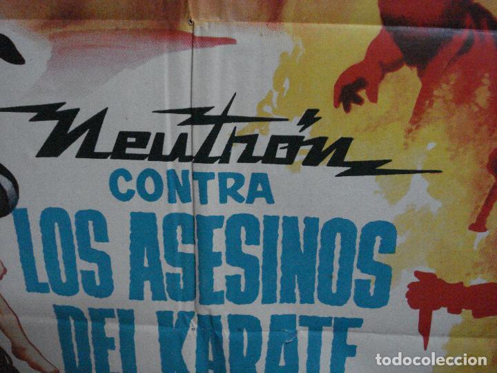Cine: CDO 657 NEUTRON CONTRA LOS ASESINOS DEL KARATE enmascarado wrestling ADOS POSTER ORIG 70X100 ESTRENO - Foto 5 - 196979790