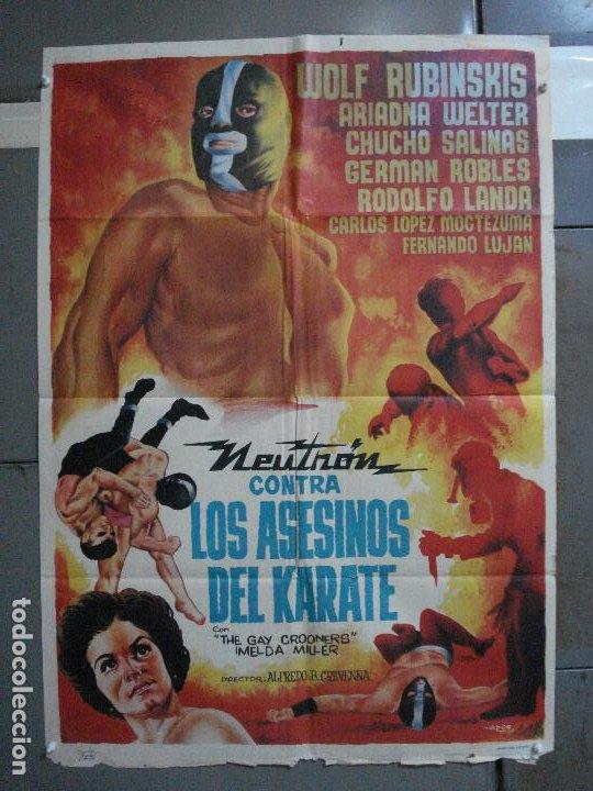 CDO 657 NEUTRON CONTRA LOS ASESINOS DEL KARATE ENMASCARADO WRESTLING ADOS POSTER ORIG 70X100 ESTRENO (Cine - Posters y Carteles - Terror)