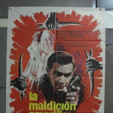 Cine: CDO 664 LA MALDICION AMARILLA JOACHIN FUCHSBERGER EDGAR WALLACE MAC POSTER ORIGINAL 70X100 ESTRENO. Lote 196992583