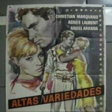 Cine: CDO 670 ALTAS VARIEDADES ROVIRA BELETA ANGEL ARANDA CIRCO MAC POSTER ORIGINAL 70X100 ESTRENO. Lote 197025732