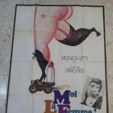 Cine: ANTIGUO CARTEL DE CINE FRANCES.MOI LA FEMME.DINO RISI.E.MARIA SALERNO.GRAN TAMAÑO.. Lote 197096936