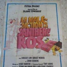 Cine: ANTIGUO CARTEL DE CINE FRANCES.LA MALE DICTION DE LA PANTHERE ROSE.GRAN TAMAÑO.. Lote 197097796