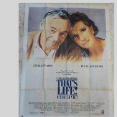 Cine: ANTIGUO CARTEL DE CINE FRANCES.THATS LIFE C'EST LA VIE.JACK LEMMON.JULIE ANDREWS.GRAN TAMAÑO.. Lote 197187636
