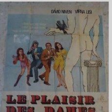 Cine: ANTIGUO CARTEL DE CINE FRANCES.LE PLAISIR DES DAMES.VIRNA LISI.GRAN TAMAÑO.. Lote 197188728